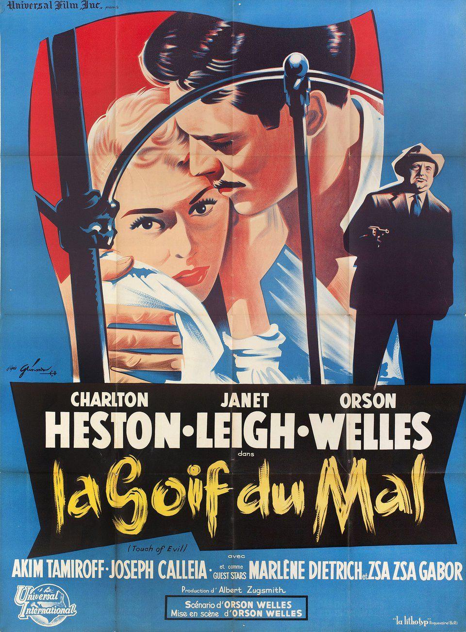 Dark city Charlton Heston vintage movie poster print