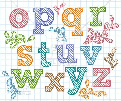 Transparent Hand Drawn Font Multi Colored Letters Download Royalty Free Vector Clipart Eps Graffiti Alphabet Creative Lettering Envelope Art