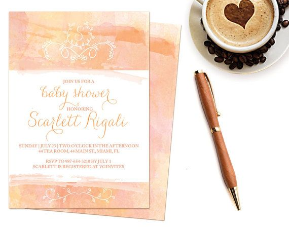 DIY Baby Shower Invitation Editable MS Word Template by VG Invites - invitation word template