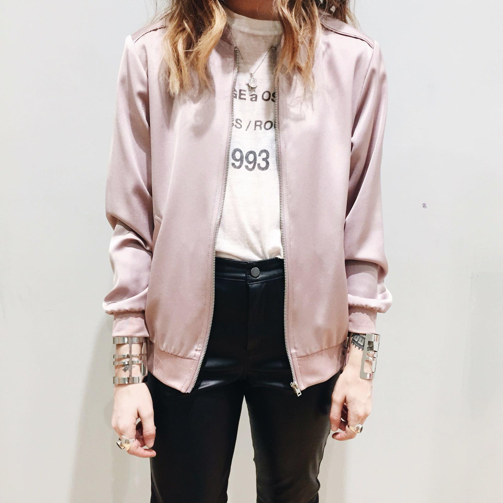 Satin Bomber Jacket Fashion Clothes Jackets [ 1600 x 1600 Pixel ]