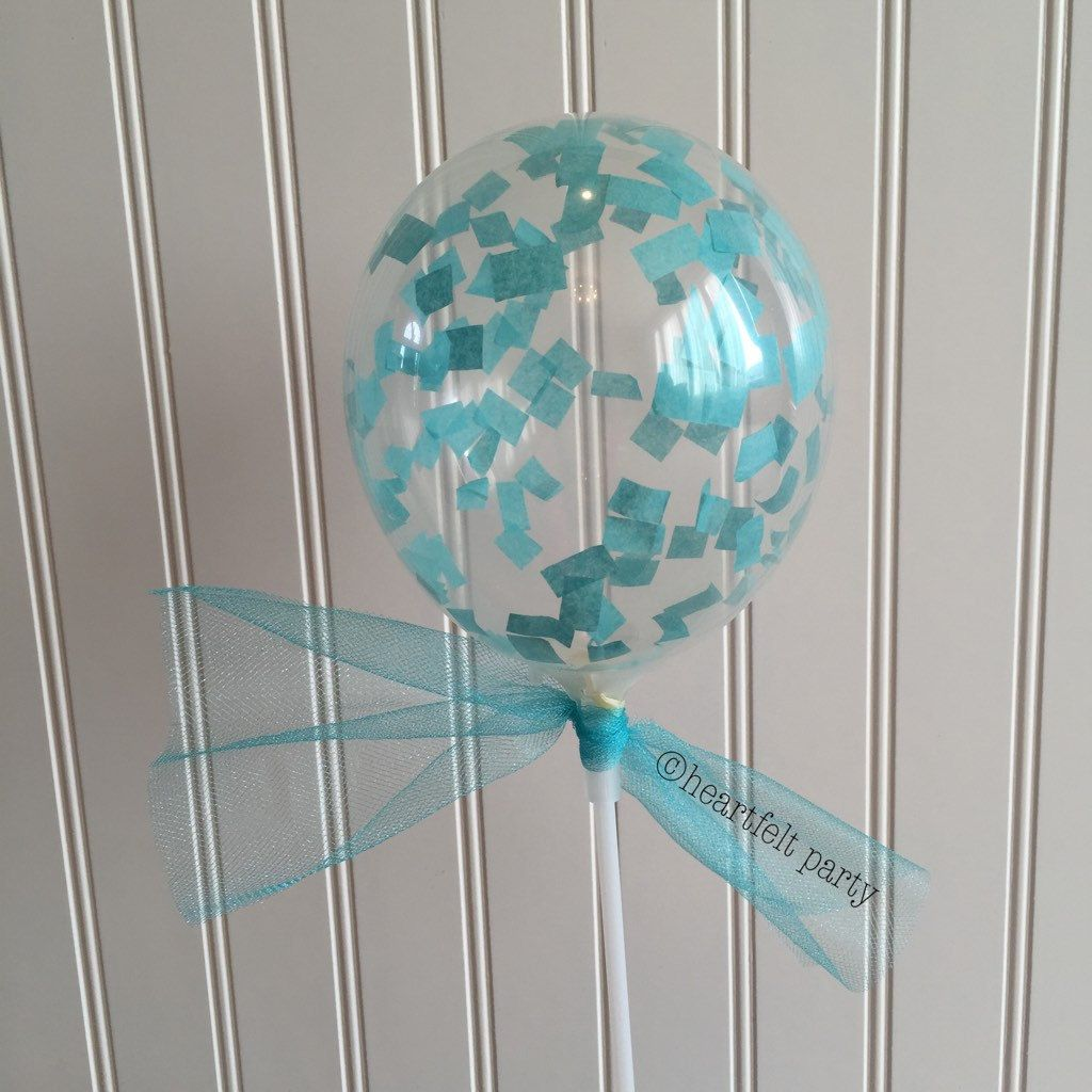 Confetti Balloon Frozen Party Decoration Frozen Party Wand