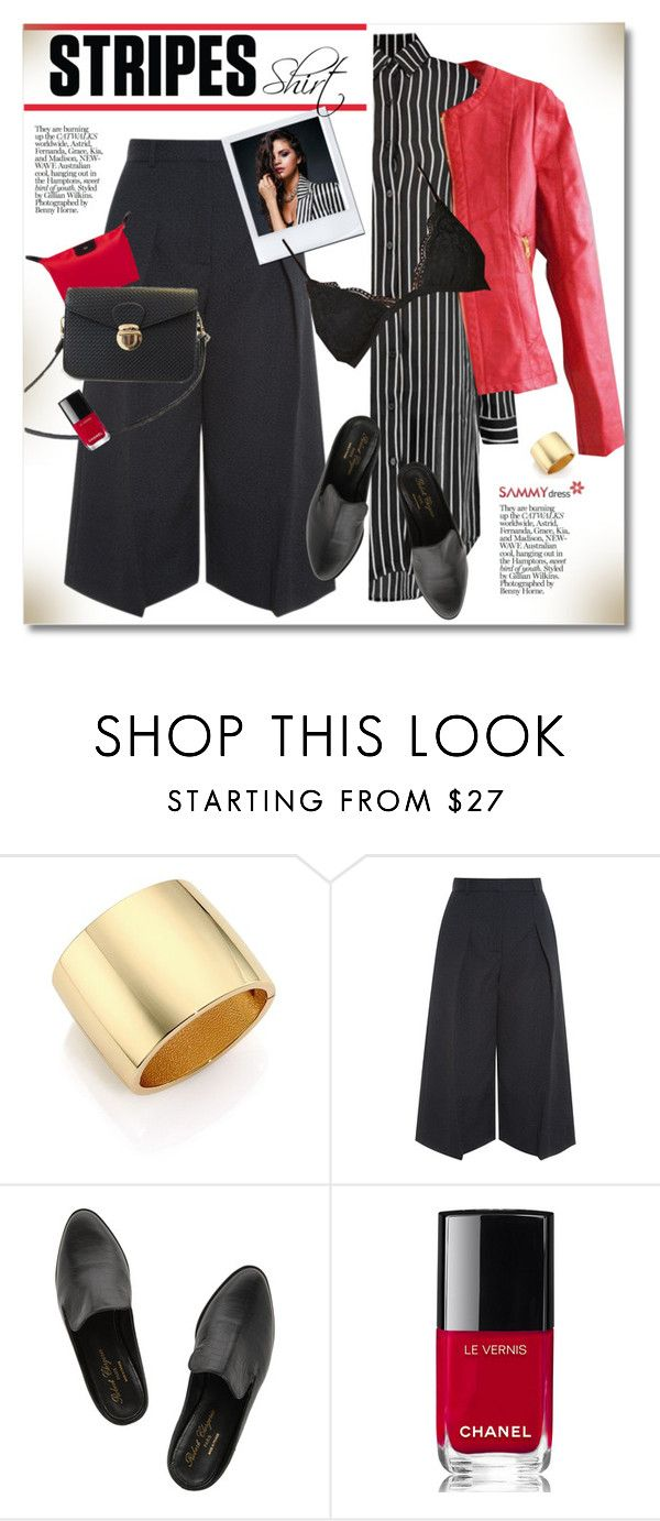 """""""One Direction: Striped Shirts"""" by svijetlana ❤ liked on Polyvore featuring Kenneth Jay Lane, Erdem, Robert Clergerie, Chanel, stripes, sammydress and polyvoreeditorial"""