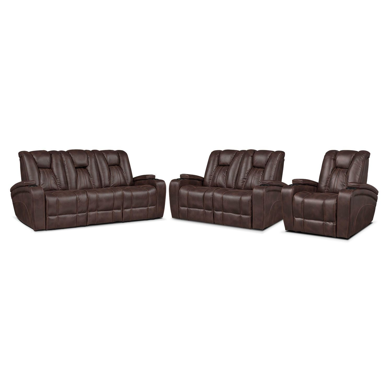 Pulsar Power Reclining Sofa Power Reclining Loveseat And Power Recliner Set Brown Products Power Reclining Loveseat Reclining Sofa Power Recliners