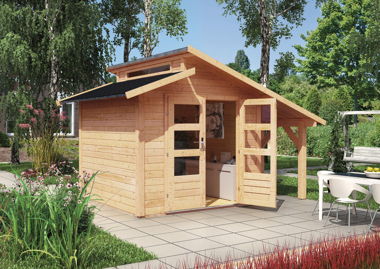 Unser Gartenhaus Gronelo In Naturbelassen Und Attraktivem Stufendach Mehr Informationen Auf Www Karibu De Gartenhaus Gartenhaus Holz Haus