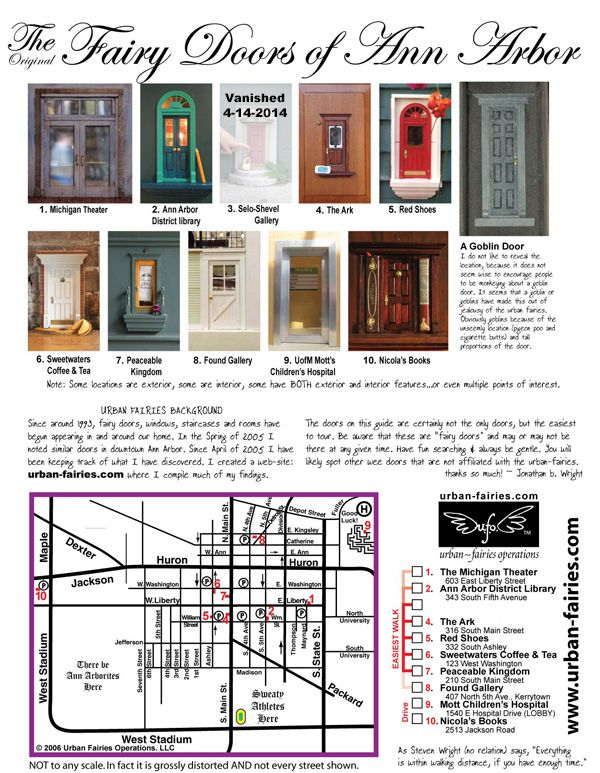 Map of fairy doors to find in Ann Arbor. A great thing to do our next trip to Michigan.  sc 1 st  Pinterest & Map of fairy doors to find in Ann Arbor. A great thing to do our ...