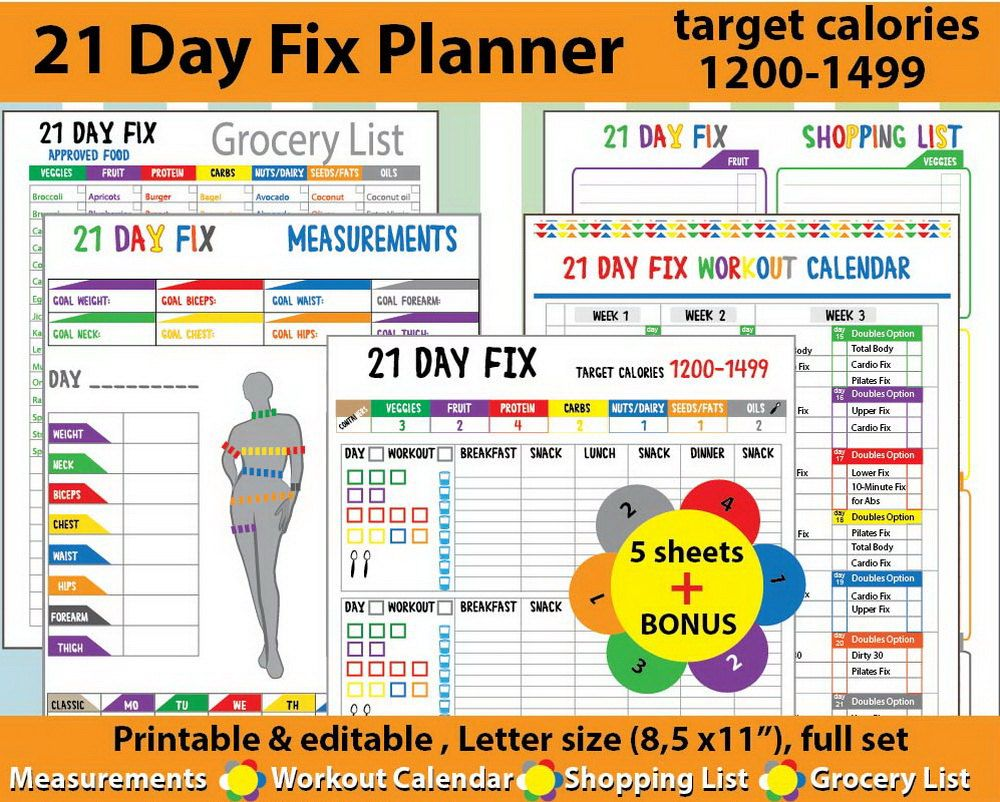 image about 21 Day Fix Printable Sheets titled 21 working day restore calendar foodstuff