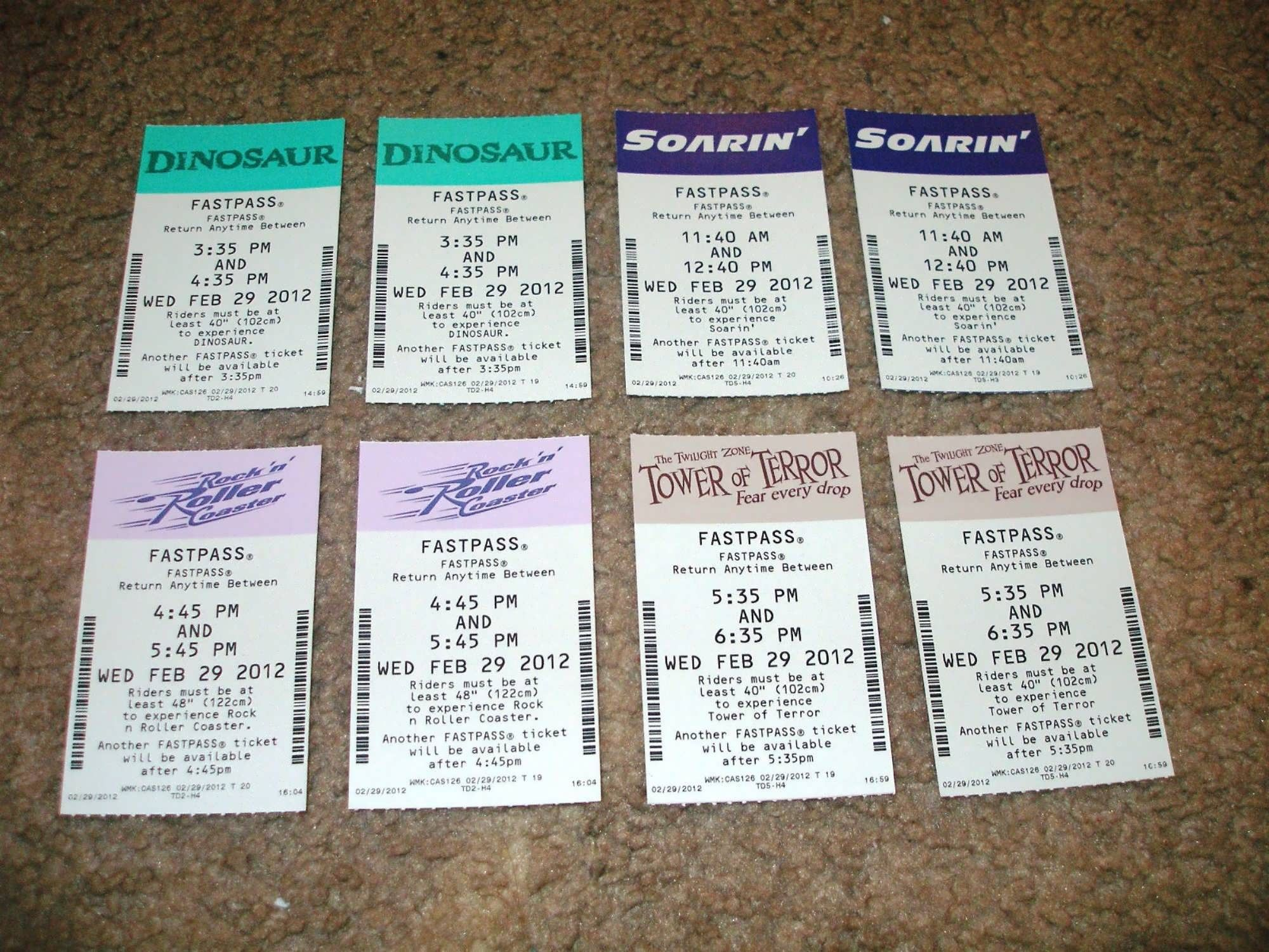 8. Make a FASTPASS collage - You can get a picture frame for as ...