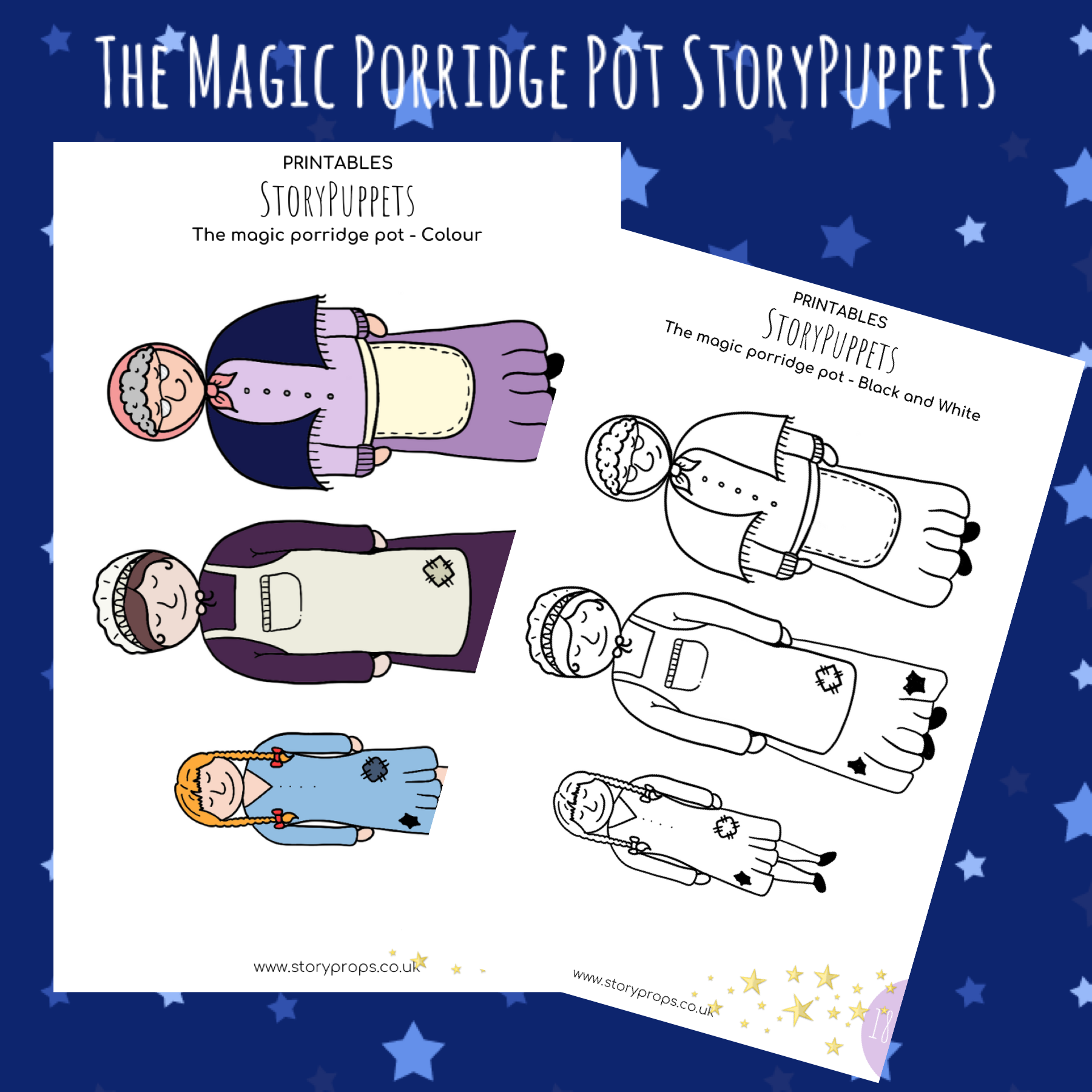 The Magic Porridge Pot StoryPuppets in 2020 Traditional