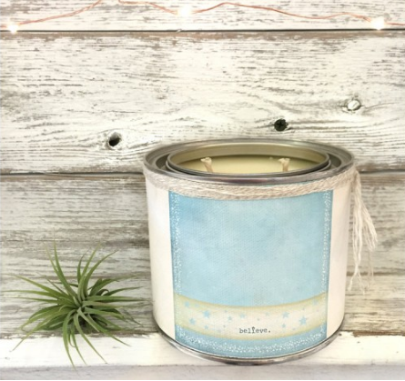 Believe' Soy Candle Candles Online And Pillows Cool Belle And June Home Decor