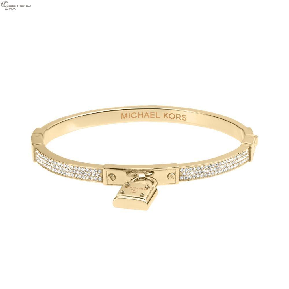 New And Needy Accessories Michael Kors Bangle Gold Glitz Padlock Brilliance Bracelet Mkj3018 Michaelkors Fashion Luxury 77