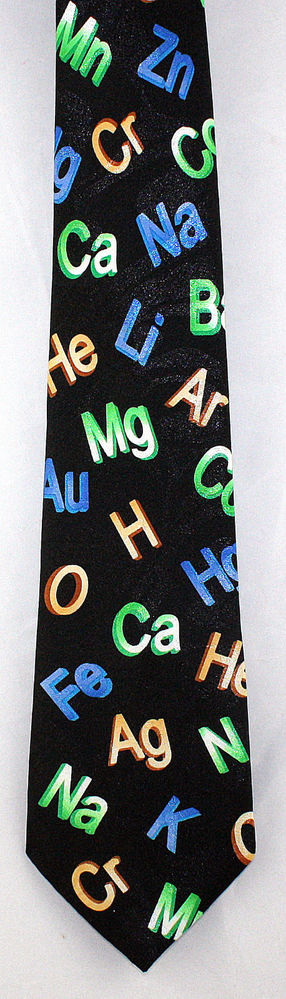 New Chemical Elements Mens Necktie Chemistry Symbols Science