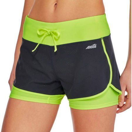 09f41431904 Avia Women s Active Perforated Shorts with Built in Compression Shorts