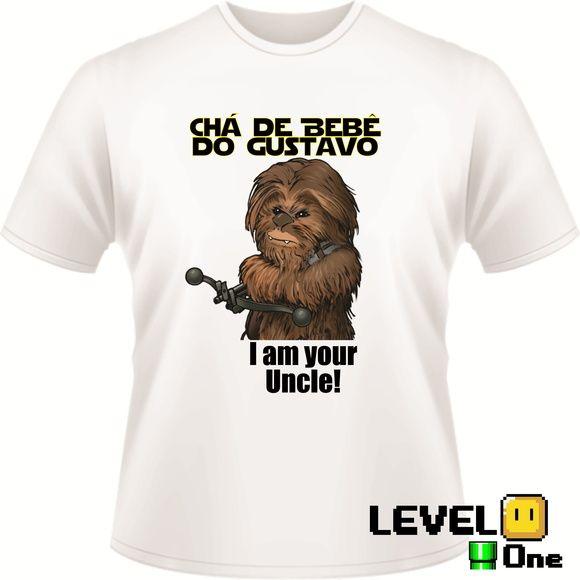 Camiseta Para Chá de Bebê Geek  c976817a37da