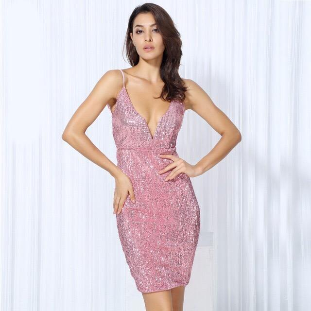 Weekend Fun Pink Sequin Mini Dress | Sequin mini dress, Pink sequin ...