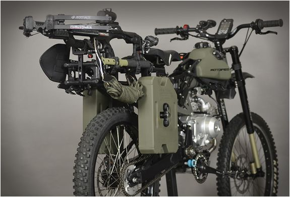 Motoped Survival Bike Bike Apocalypse Survival Bug Out Vehicle