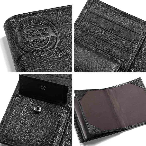 1764d8574aac Large Capacity Vintage Genuine 12 Card Slots Passport Holder Trifold ...