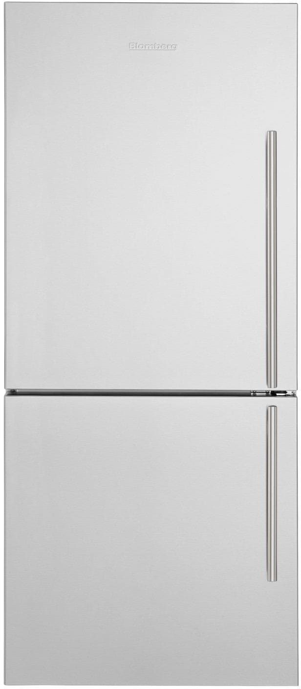 Blomberg Brfb1822ssln 30 Inch Counter Depth Bottom Freezer Refrigerator With Dual Evaporators Antibac Bottom Freezer Refrigerator Glass Shelves Bottom Freezer