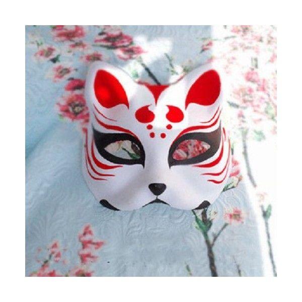 Japanese Babymetal Kitsune Red Hand-painted Fox Half Face Halloween Costume Mask