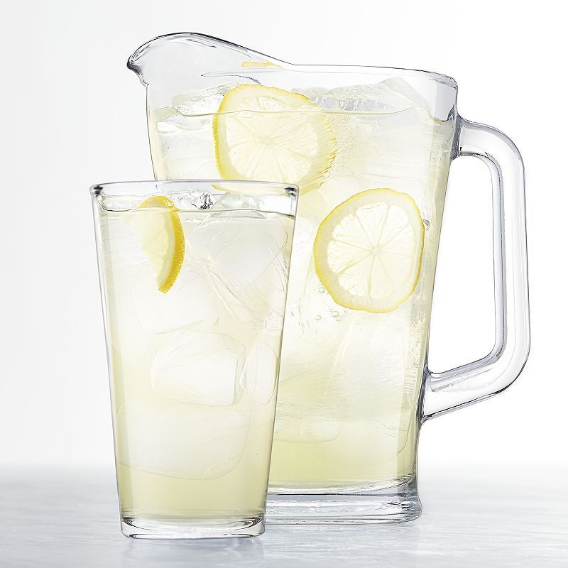 Food network 7pc pub pitcher glassware set glassware