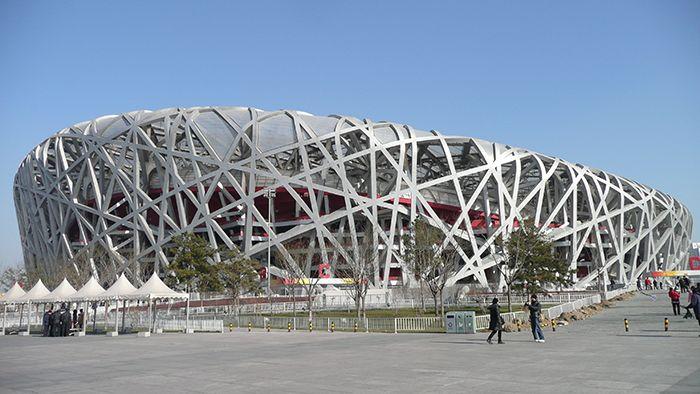 Олимпийский стадион 'Птичье гнездо' в Пекине