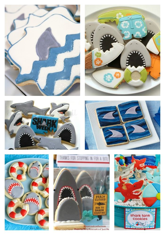 We-Are-GAGA-for-these-Shark-Cookie-Ideas-B.-Lovely-Events.jpg 700×1000 pikseli