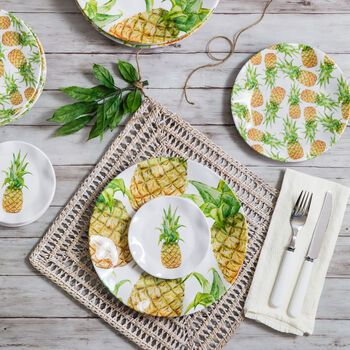 Personalized  Platter Coastal Customized Melamine Platter Pineapple