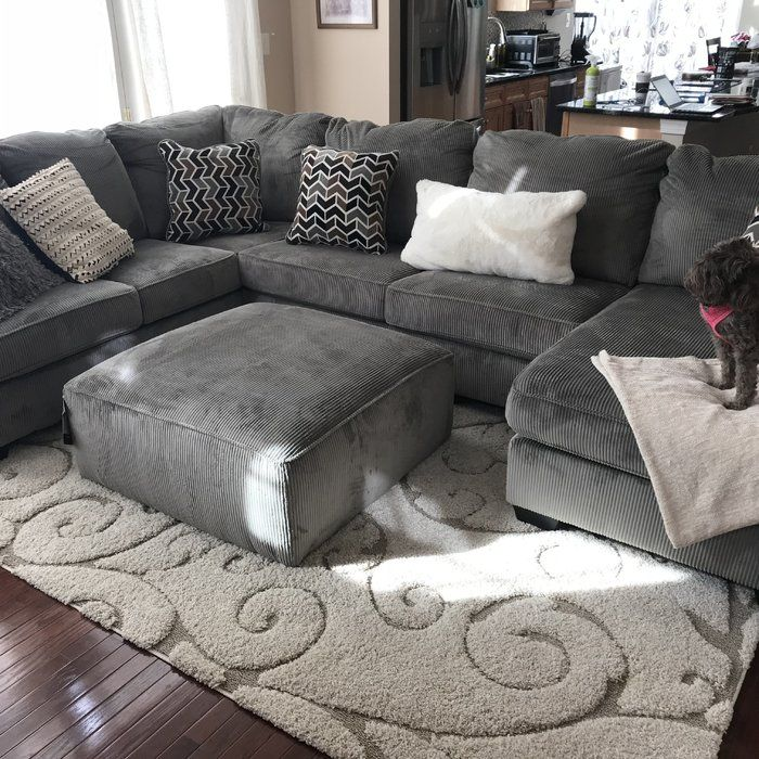 Charlton Home Ellicottville U Shaped Sectional Reviews Wayfair Sectional Sofas Living Room Brown Sectional Living Room Gray Sectional Living Room
