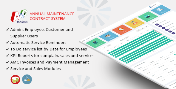 Amc Master  Annual Maintenance Contract Management System  Amc