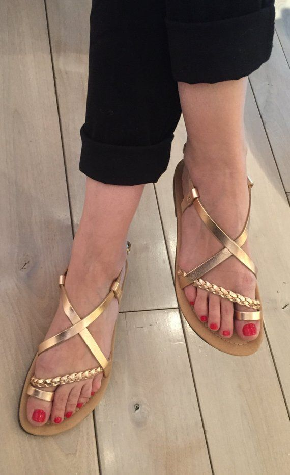 7e366655db66f Bronze sandals for Women,FREE SHIPPING in the USA,Greek leather ...