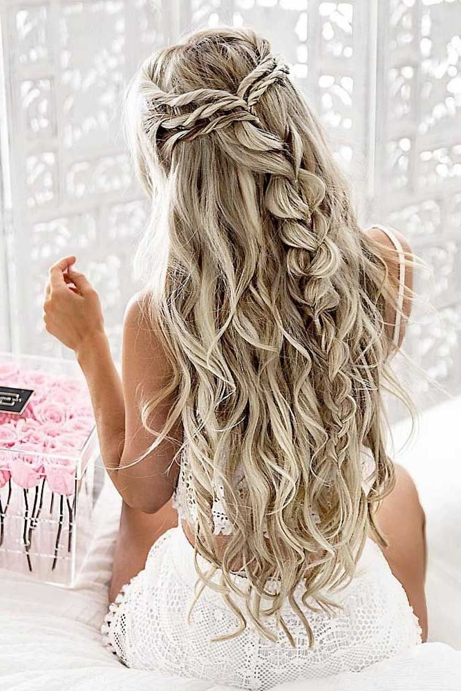 40 Stunning Prom Hairstyle Ideas In 2019 Hairstyles Hairs Down Hairstyles For Long Hair Medium Hair Styles Prom Hairstyles For Long Hair