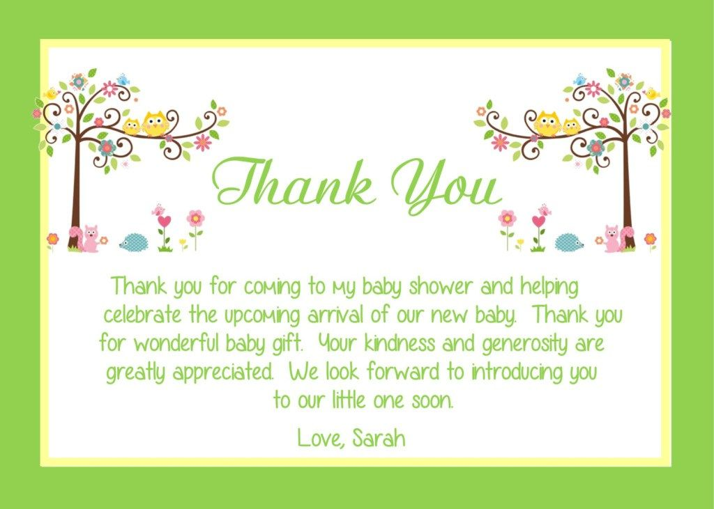 Baby Shower Thank You Notes Baby Shower Card Wording Baby Shower Thank You Cards Baby Thank You Cards