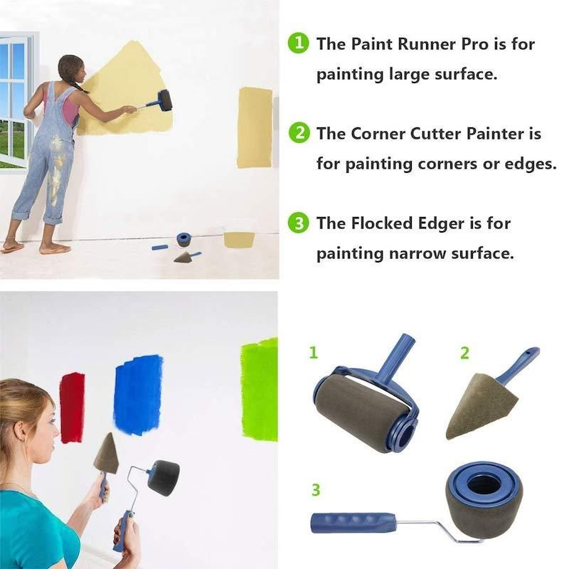 Eroller Multifunctional Paint Roller Pro Kit Paint Runner Painting Door Frames Painting Corner