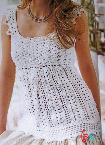 Puntadas de crochet para blusas - Imagui | Moda mujer | Pinterest ...