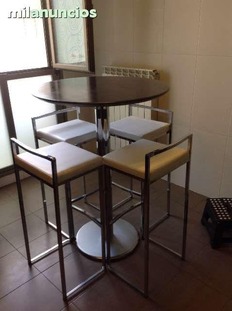 Mesa alta y 4 sillas altas foto 2 sillas pinterest mesa alta sillas altas y sillas - Sillas altas de cocina ...