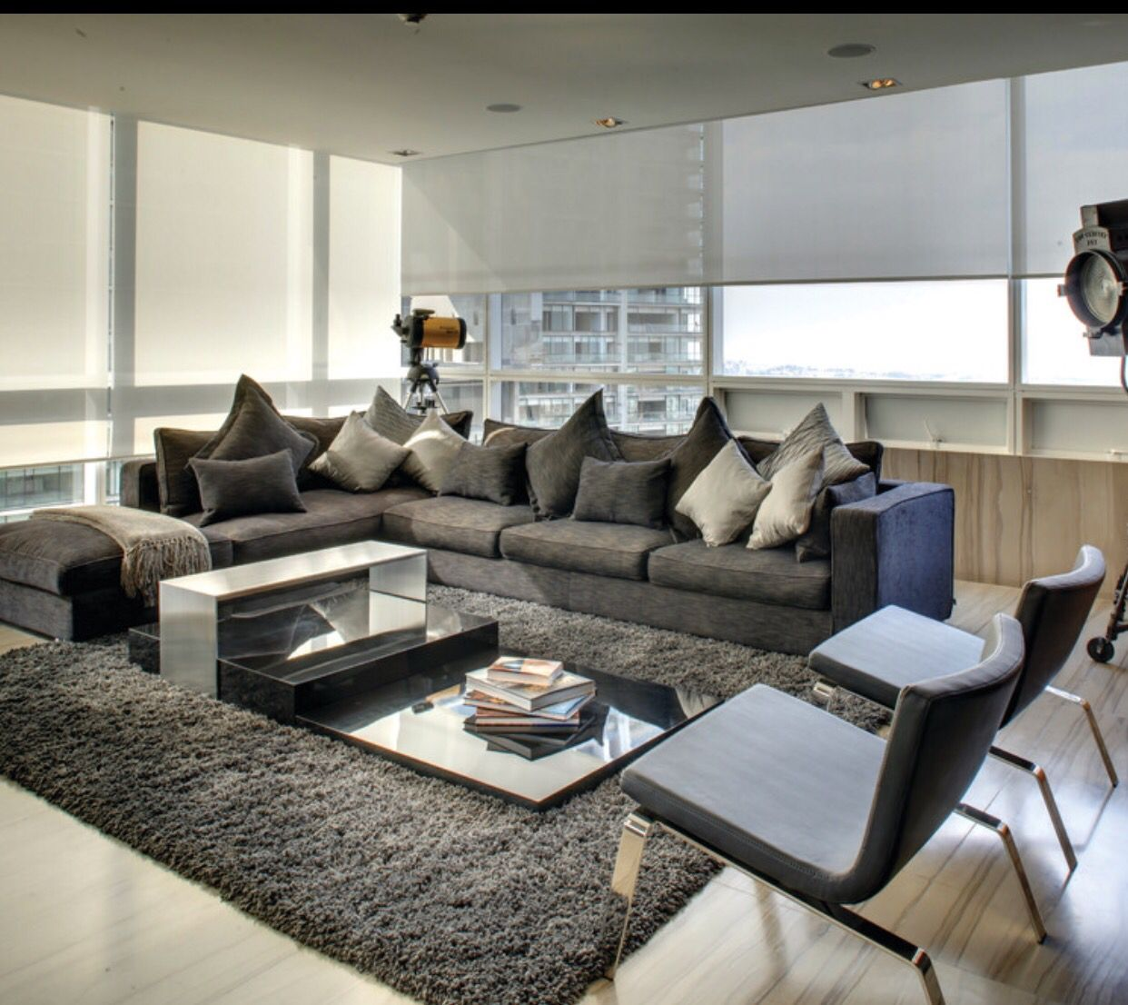 Gray Furniture With Shaggy Rug And Light Floors Sectional Sofas Living Room Grey Couch Decor Dark Grey Living Room
