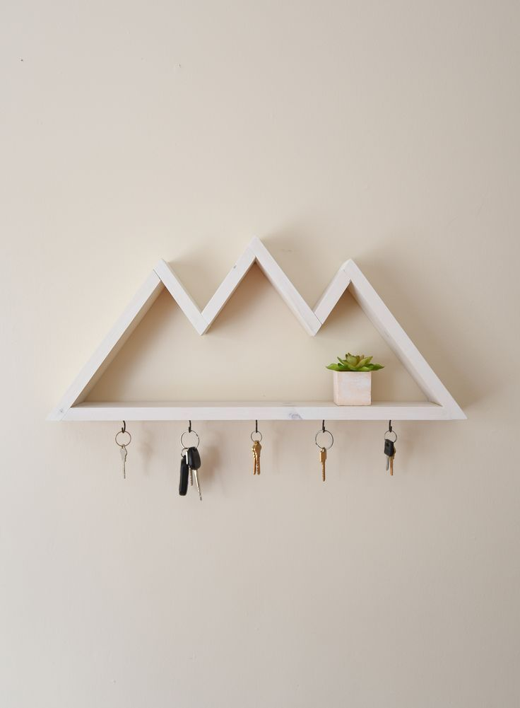 5 hooks mountain jewelry rack entryway organizer gift for her accessory storage bathroom shelf keyrack wall mounted necklace holder