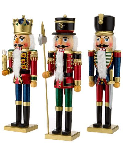 Kurt Adler Set of 3 Soldier and King Nutcrackers