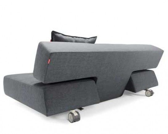 Hip Furniture   LONG HORN DELUXE SLEEPER SOFA   This Lounge Style Sofa  Turns Into A