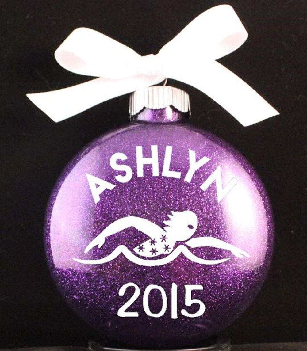 Swimming Christmas Ornament, Swim Team Christmas Ornament ...