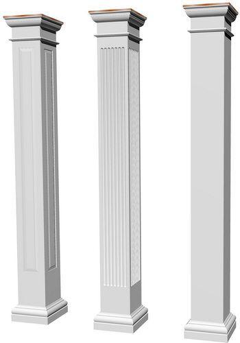 Architectural Structural Columns Square Smooth Tuscan Columns Interior Columns Porch Columns Tuscan Column