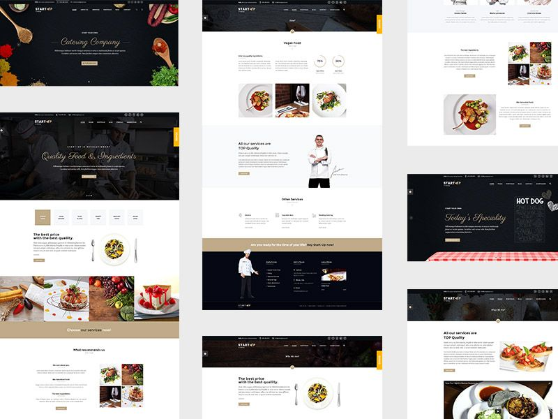 startup catering html5 css3 bootstrap template milothemes on