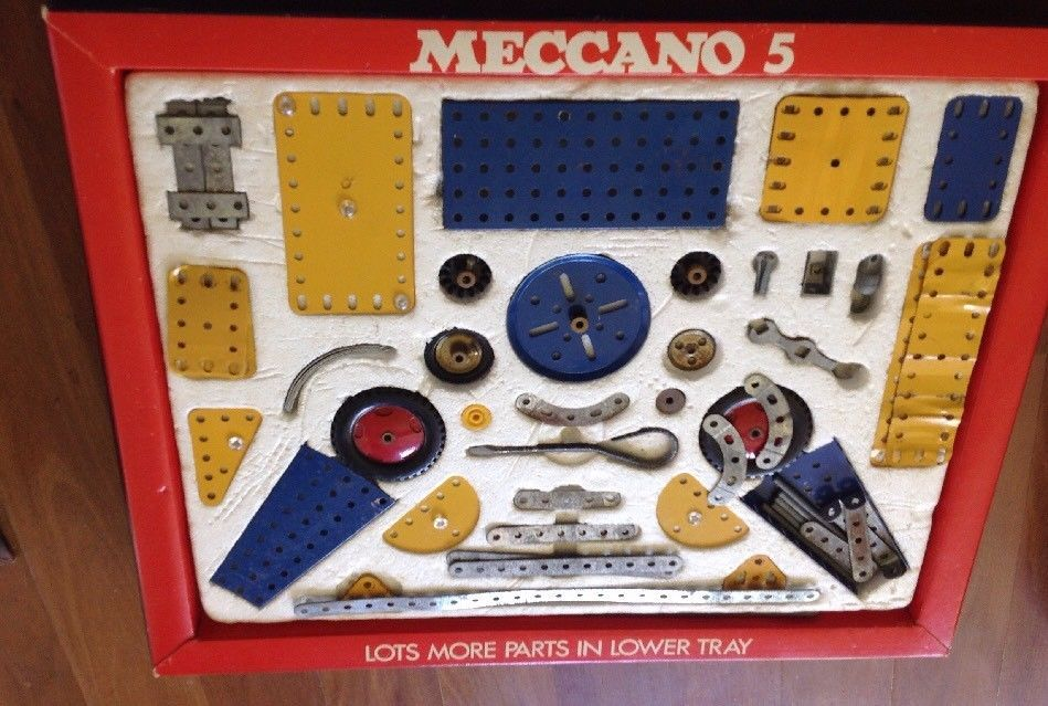 Vintage Meccano Set No 5 With Box And Model Books 90