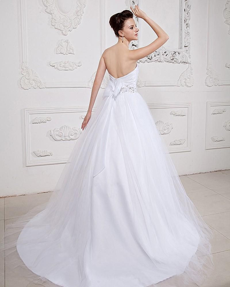 Tulle Sweetheart Beading Ball Gown Wedding Dress,Style No