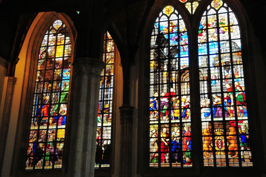 Amsterdam Oude Kerk Stained Glass Window