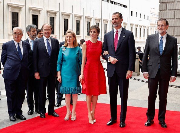 King Felipe and Queen Letizia visited Palace of the Parliament