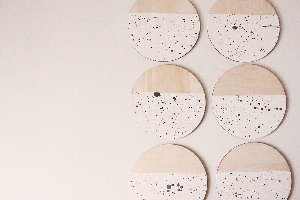 Rain Coasters Set Of 4 White The Vintage Vogue Wood Coasters Coasters Coaster Set