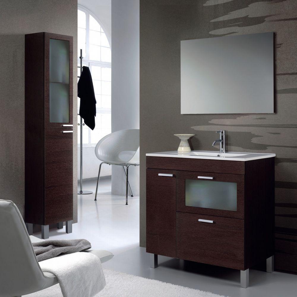 AKM 800 Bathroom Furniture Set Under Basin Sink Unit Tall Storage Column  Cabinet