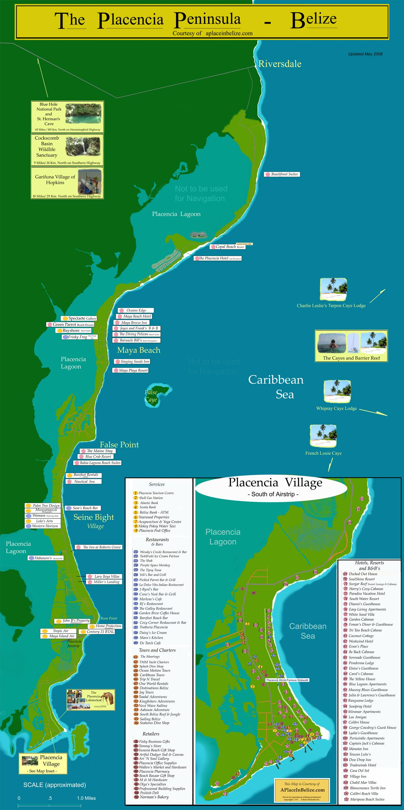Map Of Placencia Belize Belize Belize Placencia Belize Vacations