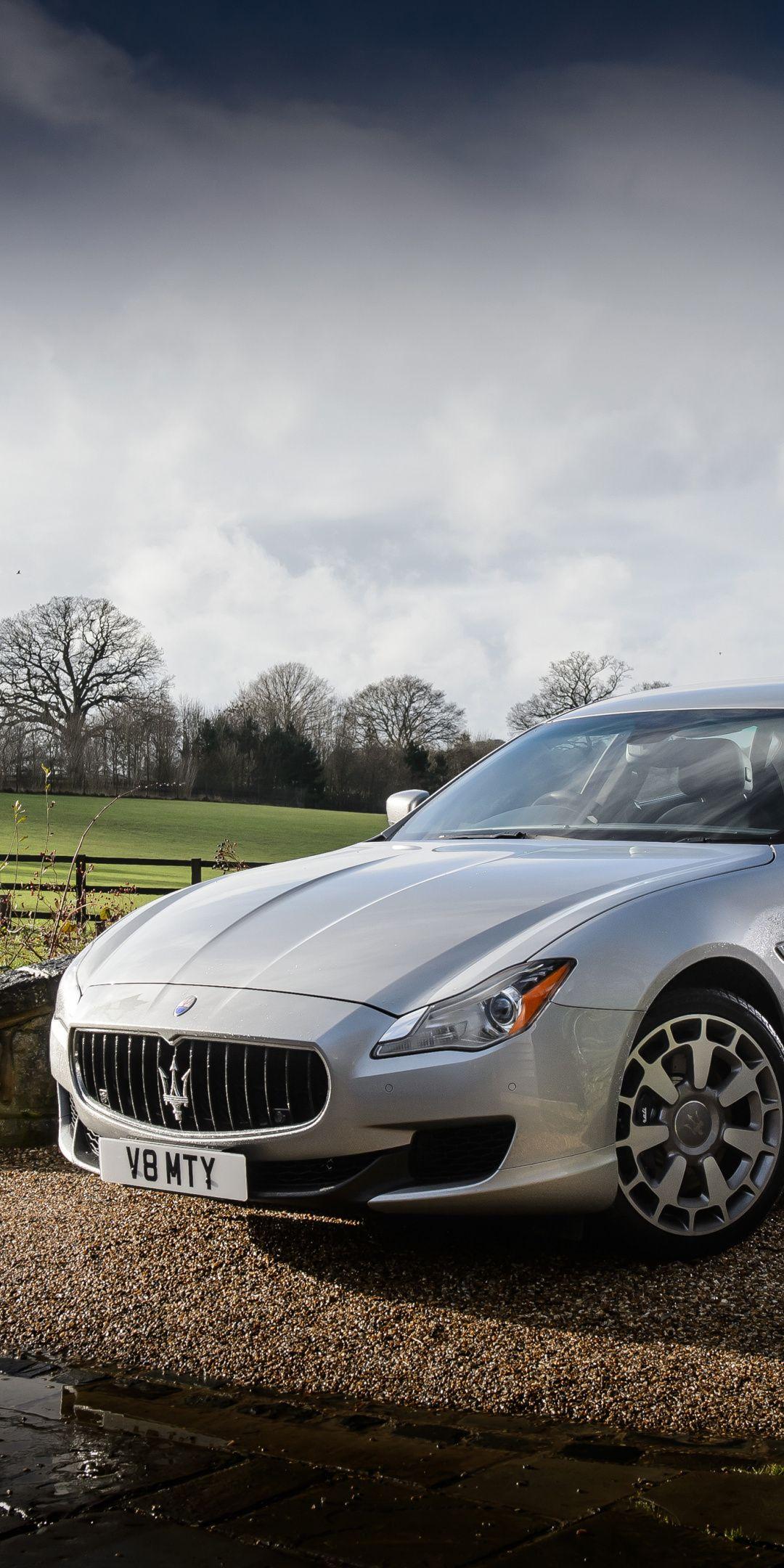 Silver, Maserati Ghibli, 1080x2160 wallpaper Maserati