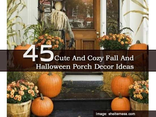 45 Cute Fall And Cozy Halloween Front Porch Decor Ideas Halloween - halloween decoration ideas home